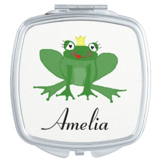 Cute Princess Frog Compact Mirror