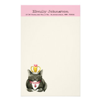 Cute Princess Kitty Custom Stationery
