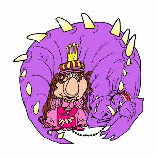 Cute Princess & Pet Dragon Photo Cut Outs