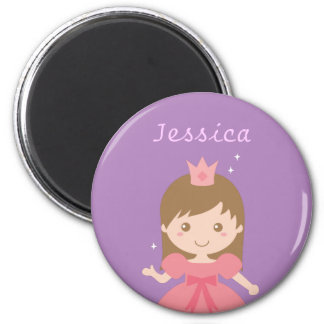 Cute Princess, Pink for Little Girls 6 Cm Round Magnet
