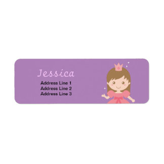 Cute Princess, Pink for Little Girls Return Address Label