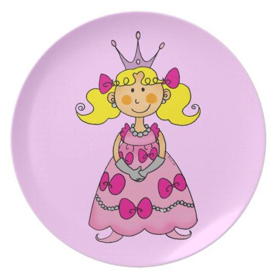 cute princess plate