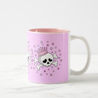 Cute Princess Skull Two-Tone Coffee Mug