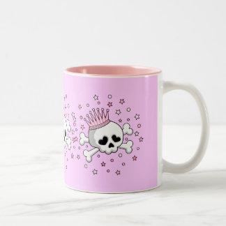 Cute Princess Skull Two-Tone Mug