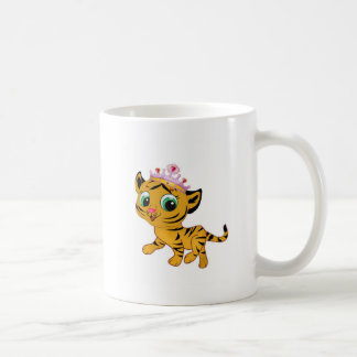 Cute Princess Tiger Tigress Tiara Gift Present Coffee Mug