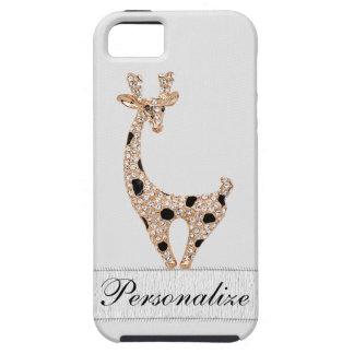 Cute Printed Gold Giraffe & Diamonds iPhone 5 Cases