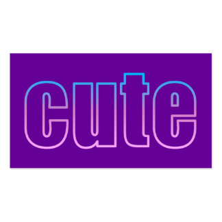 cute Profile Card Business Card Templates
