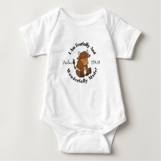 Cute Psalms 139:14 Design Baby Bodysuit