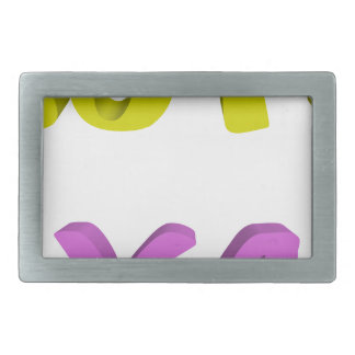 Cute psycho rectangular belt buckles