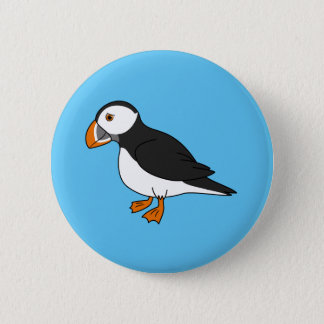 Cute Puffin 6 Cm Round Badge