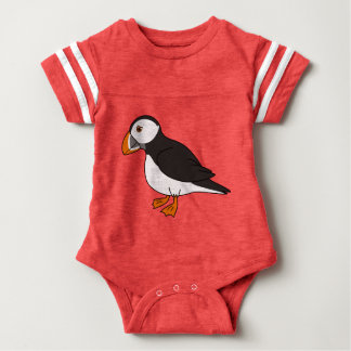 Cute Puffin Baby Bodysuit