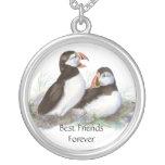 Cute Puffins, Best Friends Forever, BFF, Birds Pendant