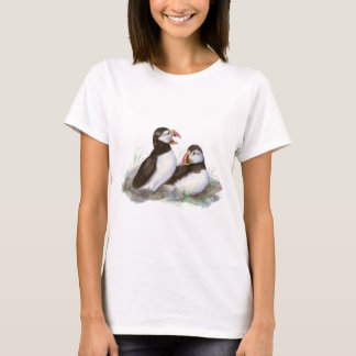 Cute Puffins, Ocean Bird, Beach, Nature T-Shirt