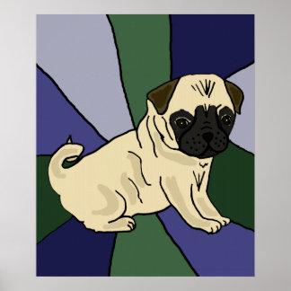Cute Pug Art Poster