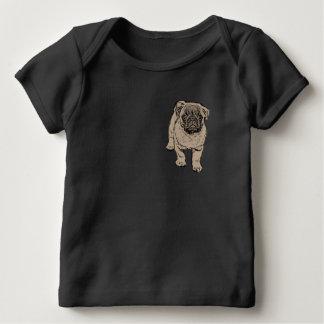 Cute Pug Baby Lap T-Shirt -Black