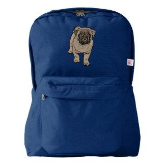 Cute Pug Backpack - Navy