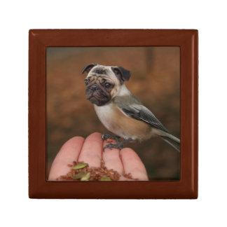 Cute Pug Bird Box Small Square Gift Box