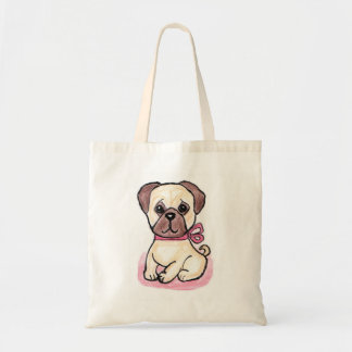 Cute Pug Bow art bag lovely present birthday