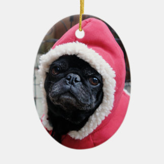 Cute Pug Christmas Ornament #3