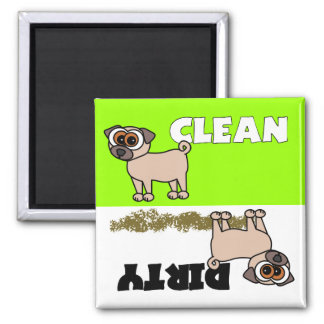 Cute Pug Clean / Dirty Dishwasher Magnet