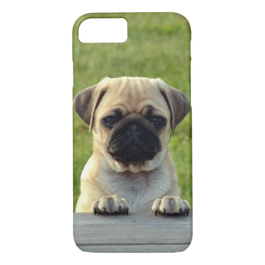 Cute Pug Dog Outside iPhone 7 Case