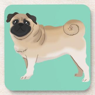 Cute Pug Drink Coasters