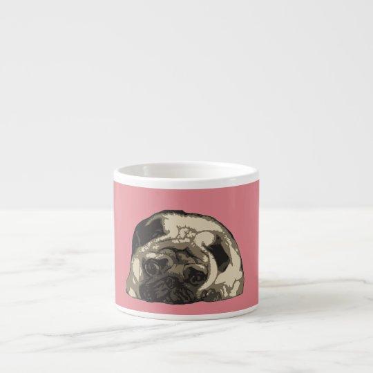 Cute pug expresso mug