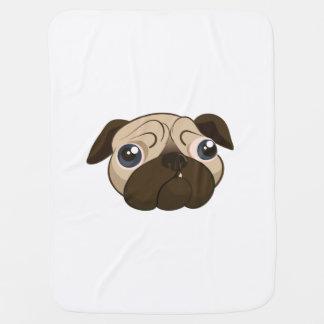 Cute Pug Face Baby Blanket