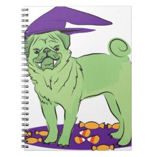 Cute Pug Halloween puppy dog Spiral Notebooks