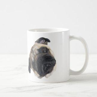Cute Pug Head Tilt Mug
