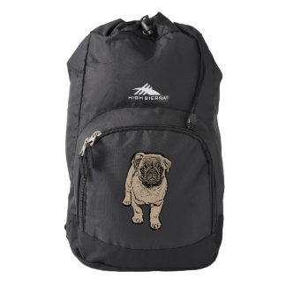 Cute Pug High Sierra Backpack - Black