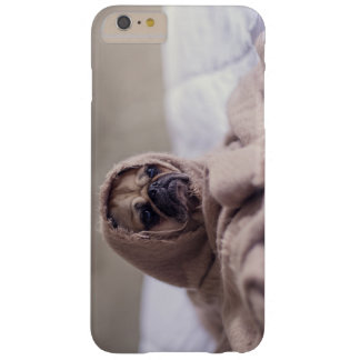 Cute pug  in a blanket barely there iPhone 6 plus case