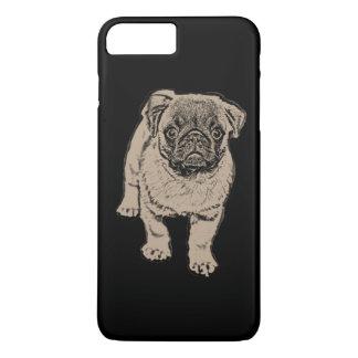Cute Pug iPhone 7 Plus Case - Black