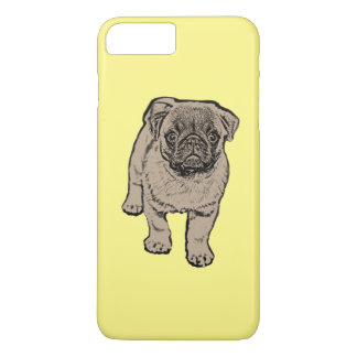 Cute Pug iPhone 7 Plus Case - Yellow