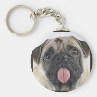 Cute Pug Key Ring