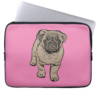 Cute Pug Laptop Sleeve 13 inch - Pink