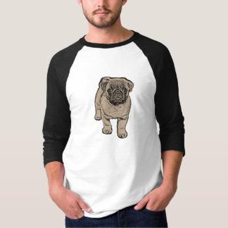 Cute Pug Men's 3/4 Sleeve T-Shirt - White/Black