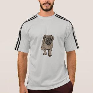 Cute Pug Men's Adidas® T-Shirt - Gray/Black