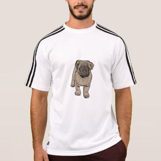 Cute Pug Men's Adidas® T-Shirt - White/Black