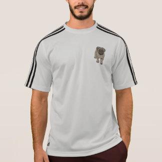 Cute Pug Men's Pocket Adidas® T-Shirt -Gray/Black