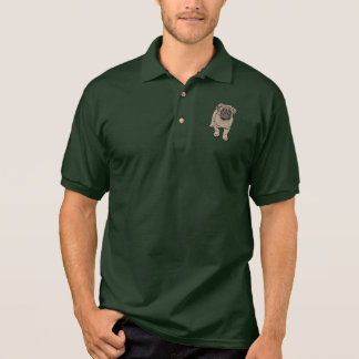 Cute Pug Men's Polo Shirt - Green