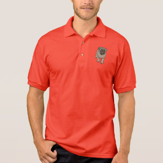 Cute Pug Men's Polo Shirt - Red