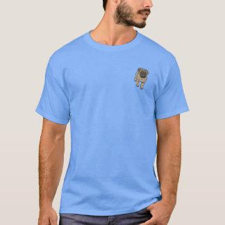 Cute Pug Men's Super Soft Pocket T-Shirt -LBlue