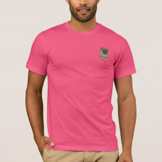 Cute Pug Men's Super Soft Pocket T-Shirt -Pink
