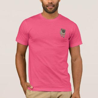 Cute Pug Men's Super Soft Pocket T-Shirt -Pink