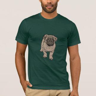 Cute Pug Men's Super Soft T-Shirt - Forest Green