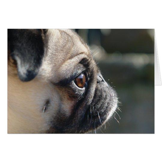Cute Pug Profile Note Card - Blank