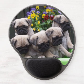 Cute Pug Puppies Gel Mouse Mat
