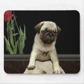 Cute Pug Puppy Dog-lovers Gift Series Mouse Mat