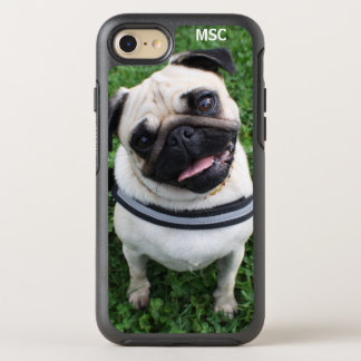 Cute Pug Puppy Dog Monogram OtterBox Symmetry iPhone 8/7 Case
